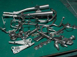 สีกันเซ่ Mr.Metal Color aluminium mc218