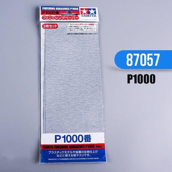 กระดาษทราย ทามิย่า Finishing Abrasives P1000 3 แผ่น