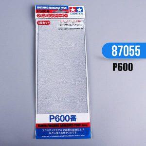 กระดาษทราย ทามิย่า Finishing Abrasives P600 3 แผ่น