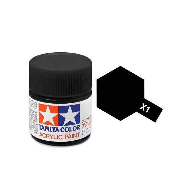 สีสูตรน้ำ TAMIYA X-1 Black
