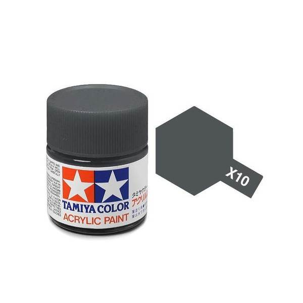 สีสูตรน้ำ TAMIYA X-10 Gun Metal