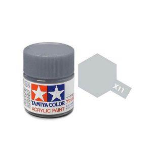 สีสูตรน้ำ TAMIYA X-11 Chrome Silver