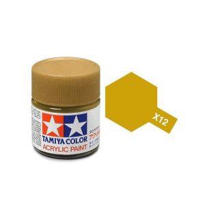 สีสูตรน้ำ TAMIYA X-12 Gold Leaf