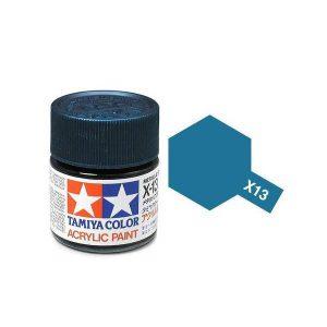 สีสูตรน้ำ TAMIYA X-13 Metallic Blue