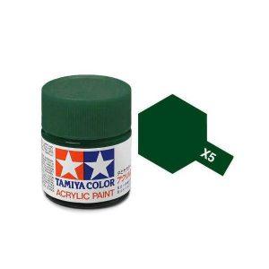 สีสูตรน้ำ TAMIYA X-5 Green