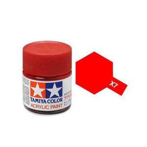 สีสูตรน้ำ TAMIYA X-7 Red