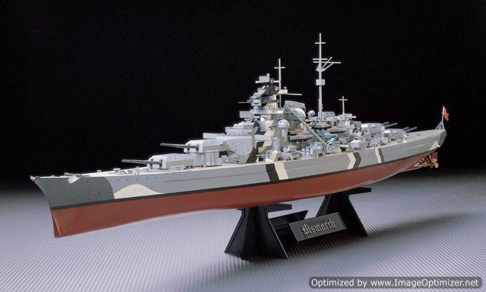โมเดลเรือรบทามิย่า 78013 German Battleship Bismarck 1 : 350