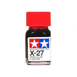 สีสำหรับทาไฟเบรค TAMIYA X-27 CLEAR RED