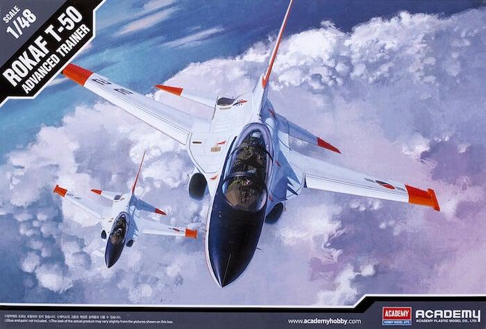 โมเดลเครื่องบิน 12231 ROKAF T-50 Advanced Trainer Airplane 1/48