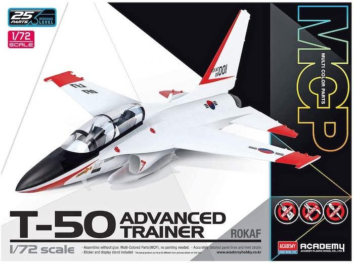 โมเดลเครื่องบิน Academy 12519 ROKAF T-50 ADVANCED TRAINER 1/72