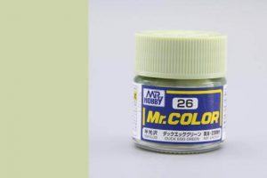 สีกันเซ่ สูตรแลกเกอร์ Mr Color C026 duck egg green