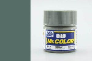 สีสูตรแลกเกอร์ Mr Color C031 dark gray
