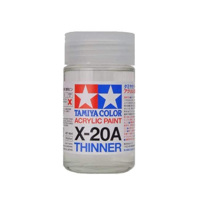 ทินเนอร์สูตรน้ำ Tamiya X-20A acrylic thinner 46ml