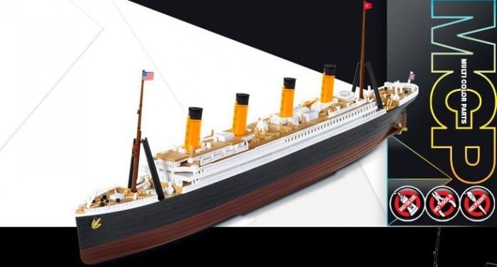 โมเดลเรือไททานิค ACADEMY RMS TITANIC 1/1000 MCP ประกอบด้วยมือ