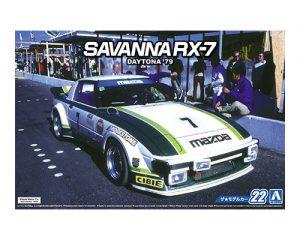 โมเดลรถยนต์อาโอชิม่า Aoshima MAZDA SA22C RX-7 Daytona 79