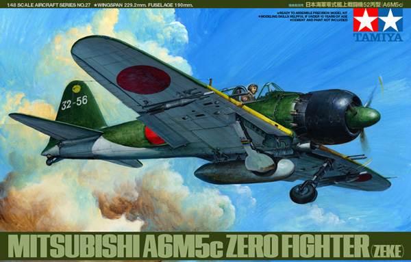 ขาย โมเดลเครื่องบินรบทามิย่า 61027 A6M5C Zero 1 : 48 ราคาถูก