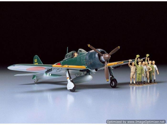 โมเดลเครื่องบินรบทามิย่า 61027 A6M5C Zero 1 : 48