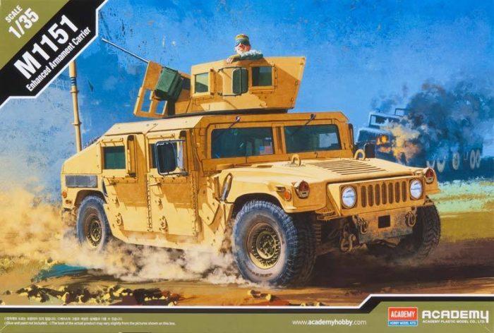โมเดลรถฮัมวี่ M1151 ACADEMY ENHANCED ARMAMENT CARRIER 1/35
