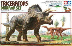 โมเดลไดโนเสาร์ทามิย่า Triceratops Diorama Set 1 : 35