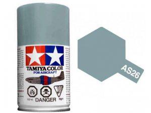 สีสเปรย์ทามิย่า Tamiya AS26 Light Ghost Grey
