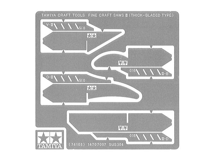 TAMIYA 74105 FINE CRAFT SAWS Ⅲ 0.15mm