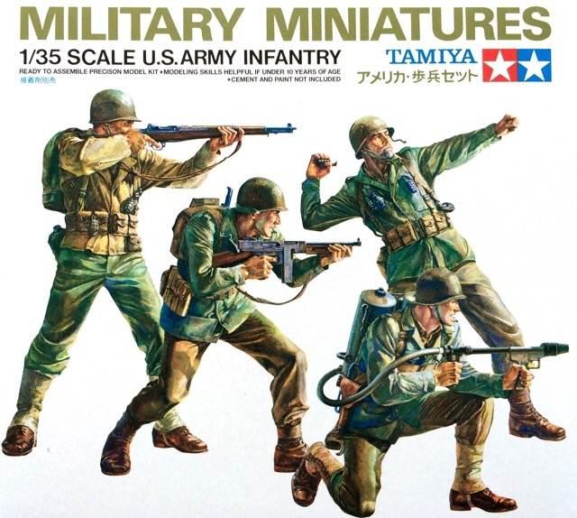 โมเดลฟิกเกอร์ทามิย่า U.S. Army Infantry Set 1 : 35 ขาย