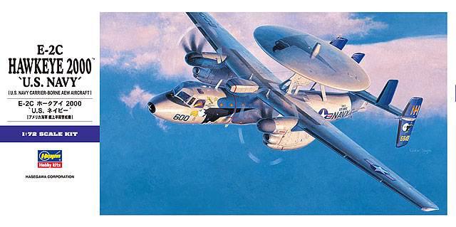 โมเดลประกอบเครื่องบิน Hasegawa E-2C HAWKEYE 2000 1 : 72