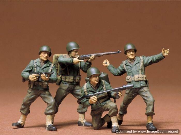 โมเดลฟิกเกอร์ทามิย่า U.S. Army Infantry Set 1/35