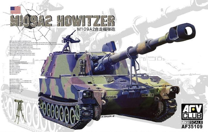 โมเดล AFV ปืนใหญ่อัตตาจร M109A2 Howitzer 1/35