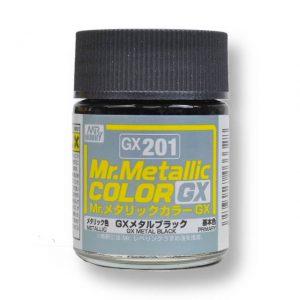สีเมทัลลิก Mr.Metallic Color GX201 Metal Black ขาย