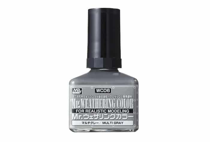 สีคราบเทา Mr.Weathering Color Mutli Gray wc06
