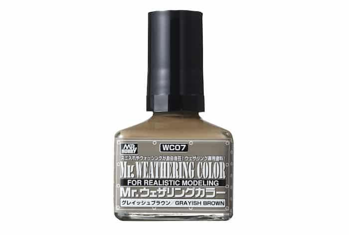 สีคราบน้ำตาลอมเทา Mr.Weathering Color Grayish Brown wc07