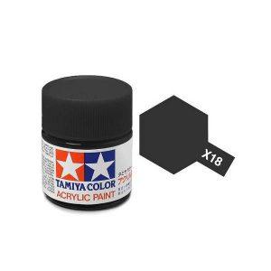 สีสูตรน้ำทามิย่า X-18 semi gloss black ขาย