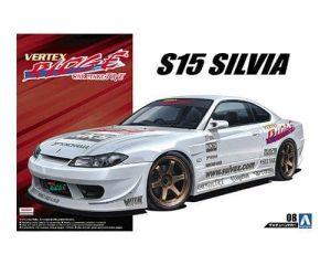 โมเดลรถยนต์อาโอชิม่า Aoshima VERTEX S15 Silvia 99 1/24