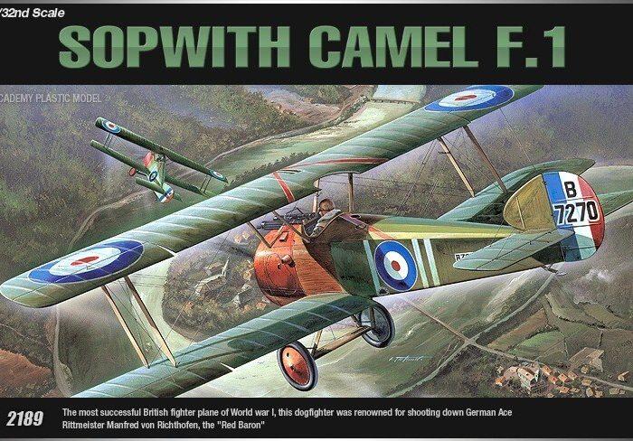 เครื่องบินขับไล่สงครามโลกครั้งที่ AC12109 SOPWITH CAMEL F-1 1/32