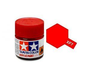 สีสูตรน้ำ TAMIYA XF-7 FLAT RED (แดงด้าน)