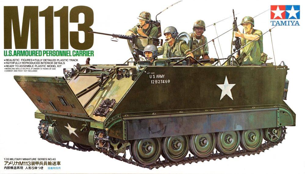 รถสายพานลำเลียงพล U.S. M113 Armored Personnel Carrier 1/35