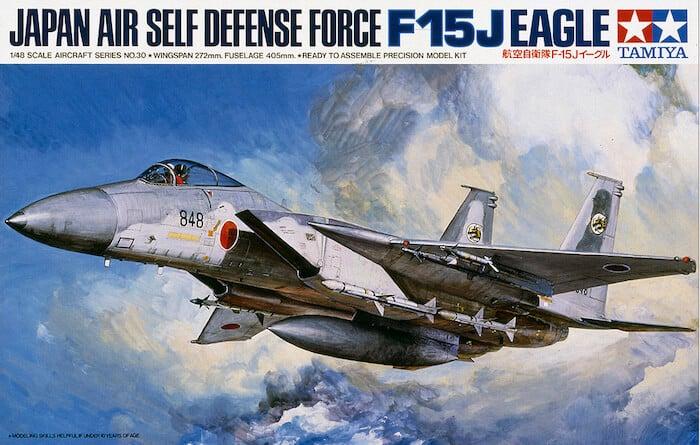โมเดลเครื่องบินขับไล่ ทามิย่า F-15J Eagle JASDF 1/48