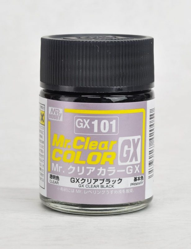 สีมิสเตอร์ฮอบบี้ GX101 CLEAR BLACK 18ML