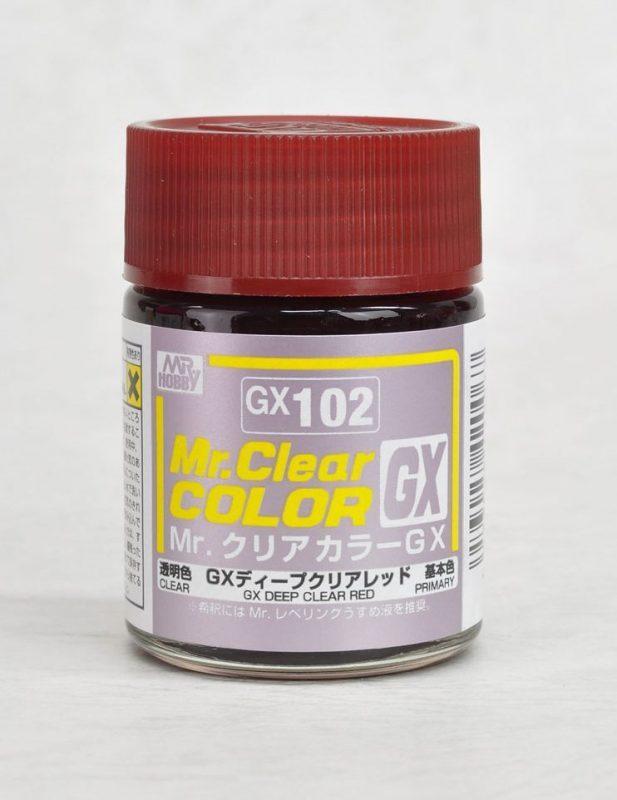 สีมิสเตอร์ฮอบบี้ GX102 CLEAR RED 18ML