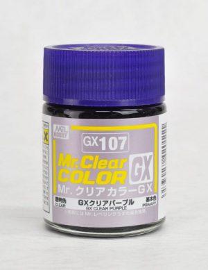สีมิสเตอร์ฮอบบี้ GX107 CLEAR PURPLE 18ML