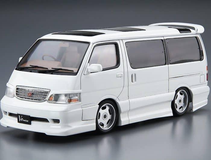 โมเดลรถตู้ Aoshima AZMAX KZH100 HIACE 99 1/24