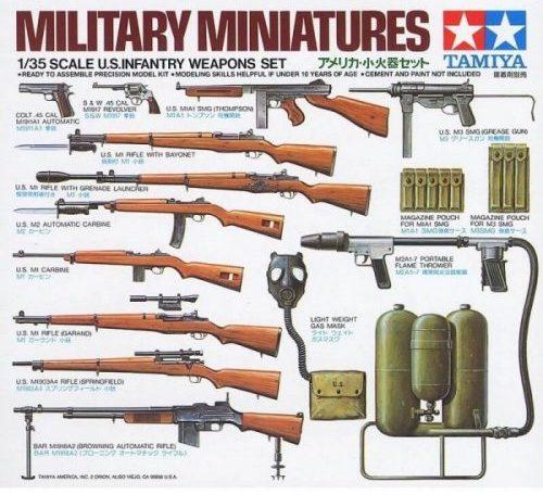 โมเดลอาวุธทหารราบอเมริกัน U.S. Infantry Weapons Set