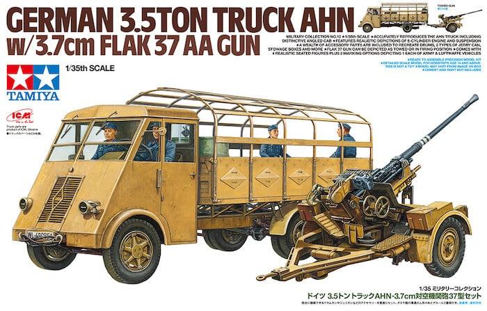 โมเดล German 3.5ton Truck AHN w/3.7cm Flak 37 AA Gun 1/35