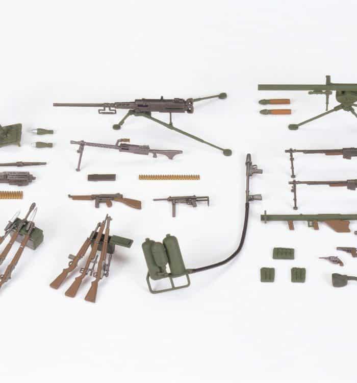 โมเดลอาวุธทหารราบอเมริกัน U.S. Infantry Weapons Set 1/35