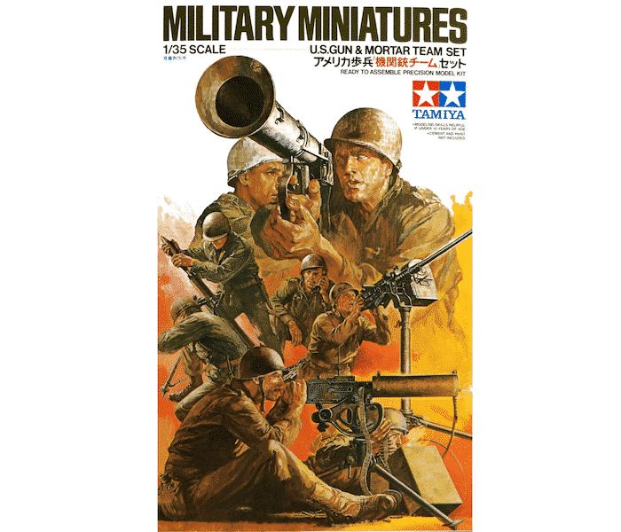 โมเดลฟิกเกอร์ทามิย่า U.S. Gun and Mortar Team Set 1/35