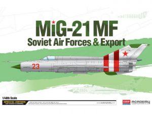 โมเดลเครื่องบิน Academy MIG-21MF/SM Soviet Forces & Export 1/48