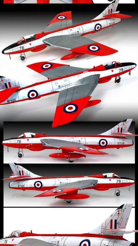 โมเดลเครื่องบิน Academy Hawker Hunter F.6 FGA.9 RAF&Export 1/48