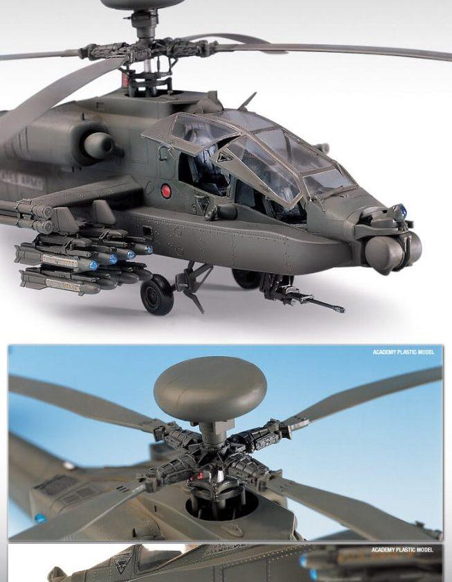 โมเดลเฮลิคอปเตอร์ Academy Boeing AH-64D Longbow 1/48