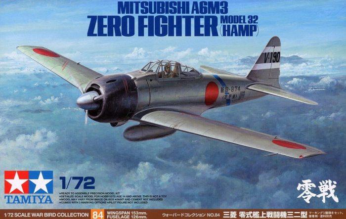 โมเดลเครื่องบิน Mitsubishi A6M Zero Type 32 1/72